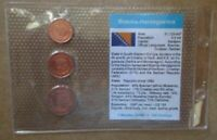 BOSNIA-HERZEGOVINA..3 UNCIRCULATED COINS......IN PLASTIC COVER