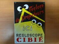 PB61F PLAQUE PUBLICITAIRE tolée age d'or Automobile : Regloscope CIBIÉ