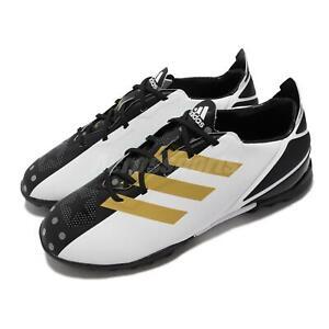 adidas Gamemode TF J White Gold Black Junior Kids Football Soccer Shoes GY5551