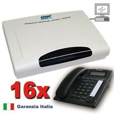 Kit Centralino telefonico analogico 4/16 linee Disa 90s. + 16 telefoni Panasonic