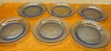 set of 6 blue salad plates by pyrex