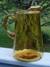Vintage Amber Swirl Ice Tea- Water Pitcher