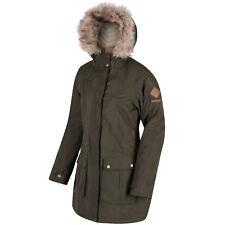 Regatta Womens Schima II Waterproof Insulated Coat 20 Dark Khaki Rwp238 41c20l