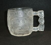 The Flintstones Rocky Road Glass Mugs RocDonald's McDonald's 1993 Made in USA