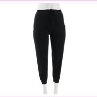 AnyBody Petite Drawstring Pocket Cozy Knit Jogger Pants Black,Size XSP, NEW