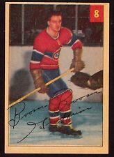 1954-55 PARKHURST #8 BERNIE GEOFFRION  - MONTREAL CANADIENS - HOCKEY CARD