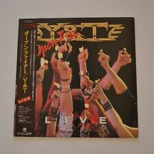 Y&T - Open fire LIVE - 1985 JAPAN LP PROMO SAMPLE