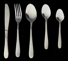 Set 30 posate per 6 persone acciaio inox 18/10 tavola, bar, ristorante, pizzeria