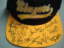 TEAM AUTOGRAPH Oklahoma City OKC BLAZERS Hockey Ball Cap Hat