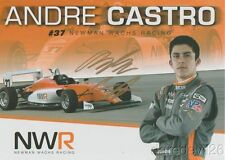 2017 Andre Castro signed Newman Wachs Racing Mazda USF2000 postcard