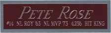 PETE ROSE REDS NAMEPLATE AUTOGRAPHED BASEBALL-BAT-JERSEY-PHOTO-HELMET-CAP-BOOK