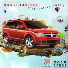 DODGE Journey 2010 marché britannique la brochure commerciale se SXT RT 2.4 2.0 CRD