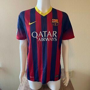 Nike FC Barcelona 2013/14 Home Jersey Men's Size Large Soccer - La Liga