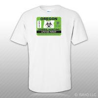 Oregon Zombie Hunting Permit T-Shirt Tee Shirt Free Sticker outbreak response