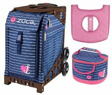 Zuca Sport Bag - Anchor My Heart w/Gift Lunchbox and Seat Cover (Brown Frame)
