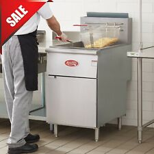 70 100 Lb Natural Gas Commercial Restaurant Stainless Steel Floor Deep Fryer