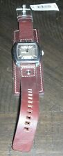 Fossil Analog Brown Leather Mens Watch - JR1190 - NEEDS BATTERY - New with Tags