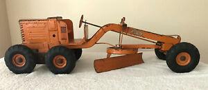 "Vintage 1950's Adams 26"" Orange Road Grader DOEPKE Model Toys Farm Construction"