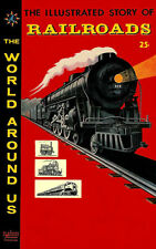 World Around Us #4 Vg, Railroads, L.B. Cole art, Classics Illustrated 1958
