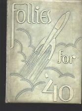 Auburn IN Auburn High School yearbook 1940 Indiana