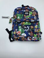 "NEW Nintendo Super Mario Brothers All Over Print 16"" Backpack School Book Bag"