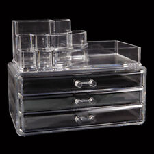 Clear Acrylic Cosmetic Organizer 3 Drawer Drawer Makeup Case Storage Holder Box