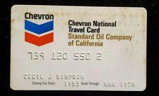 1978 Chevron National Travel Card credit card ♡Free Shipping♡ cc897 Standard Oil