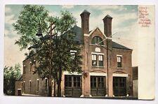 MA Postcard Waltham Massachusetts Vintage Moody Street Fire Station Dept House