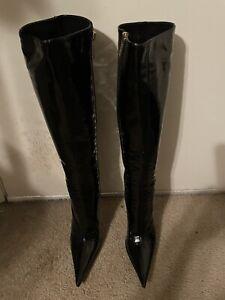 Gianmarco Lorenzi Patent Leather Boots 36
