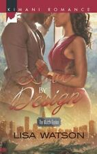 Harlequin Kimani Romance the Match Broke: Love by Design 399 by Lisa Watson...