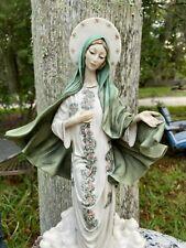 Rare Vintage Giuseppe Armani Madonna of Medjugorje HP Figurine Florence Italy