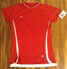 WOMEN'S NIKE FIT DRY MESH T SHIRT ATHLETIC LARGE NEW NWT