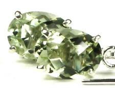 925 Sterling Silver Threader Earrings, Green Amethyst (Prasiolite), SE003