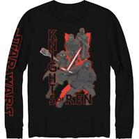 Star Wars Mens Knights Of Rein Cotton Long Sleeve Tee Graphic T-Shirt BHFO 7212