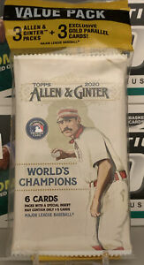 Topps 2020 Allen & Ginter Value Pack New Sealed 3 Packs Of 6 Plus 3 Gold Cards