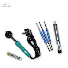 Set soudure 7 éléments avec fer à souder 30W & accessoire en sac
