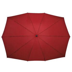 IMPLIVA groß rechteckig Doppelt Schirme Regenschirm Stockschirm, rot