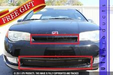 GTG 2002 - 2006 Saturn Ion Coupe 2PC Gloss Black Combo Billet Grille Grill Kit
