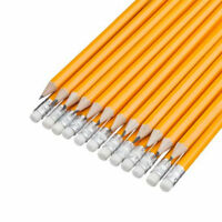 15 x HB Pencils With Rubber Eraser Tip School Exam Stationary Pencil Multi Pack