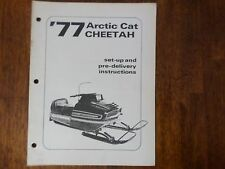 1977 Arctic Cat Cheetah Snowmobile Set Up And Predelivery Instructions Manual