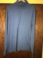 Vintage Men's LL Bean Full Turtle Neck - Size XL - Made in USA - Blue C57