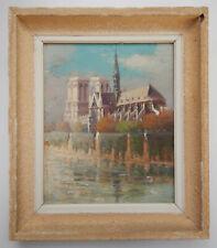 Notre-Dame de Paris, huile impressionniste sur isorel