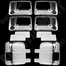Chrome Covers Set Mirrors W/Signal Door Handles for FORD F-250 F350 SD 2008-2016