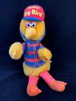 "Sesame Street Musical Big Bird Plush Band Leader  Vintage 11"" 1980"