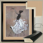 """32W""""x40H"""" LIVING THE DREAM by MARTA WILEY - DANCING DOUBLE MATTE, GLASS & FRAME"""