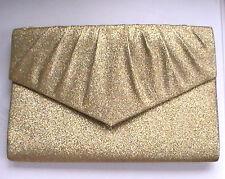 Gold clutch bag Handbag glitter Gold Shimmering Sparkling glam High Fashion