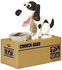Choken Puppy Hungry Eating Dog Coin Bank Money Saving Box Piggy Bank Present US