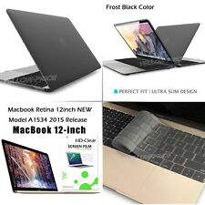 """For New MacBook Retina 12"""" inch Rubberized Hard Case+Keyboard Cover+Film  A1534"""