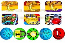 THE SIMPSONS PINBALL PARTY Pinball Target Cushion Decals