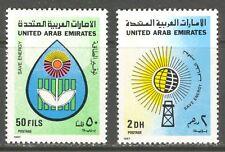 ENERGY CONSERVATION ON UNITED ARAB EMIRATES 1987 Scott 237-238, MNH